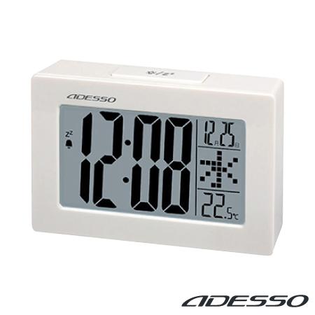 時計 記念品名入れ ADESSO 大画面めざましクロック