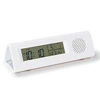 時計 記念品名入れ ワイドFM対応ライト付き多機能クロック