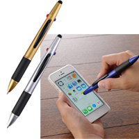 ノベルティ 名入れ 3色ボールペン&タッチペン