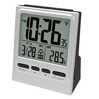時計 記念品名入れ ADESSO 大画面目覚まし電波クロック